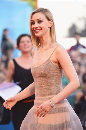Sarah Gadon Opening Ceremony and Birdman premiere during the Venice Film Festival August 27, 2014