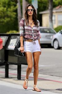 Alessandra Ambrosio running errands in Santa Monica at Sweet Lady Jane August 25, 2014
