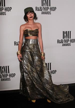 Zendaya at the 2014 BMI RBHip-Hop awards on August 22, 2014