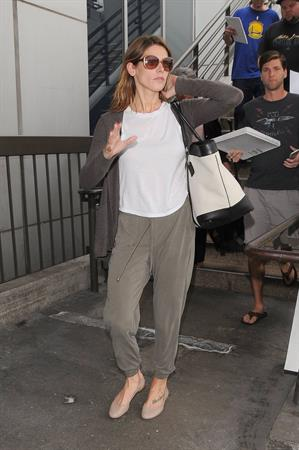 Ashley Greene arriving at LAX August 22, 2014