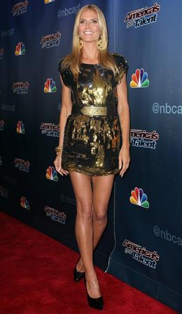 Heidi Klum at America's Got Talent season 9 post show red carpet event on August 20, 2014