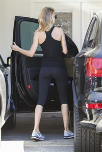 Rosie Huntington-Whiteley leaving a gym in Los Angeles August 15, 2014