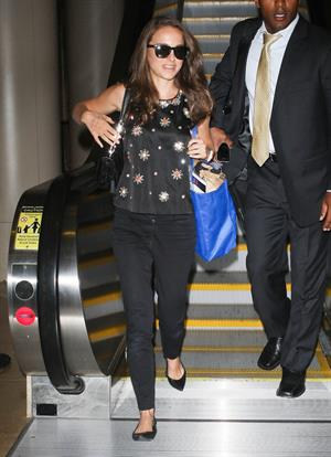 Natalie Portman Arriving on a flight at LAX airport - September 19, 2012