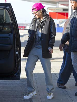 Rihanna arriving at JFK in NYC 11/6/12