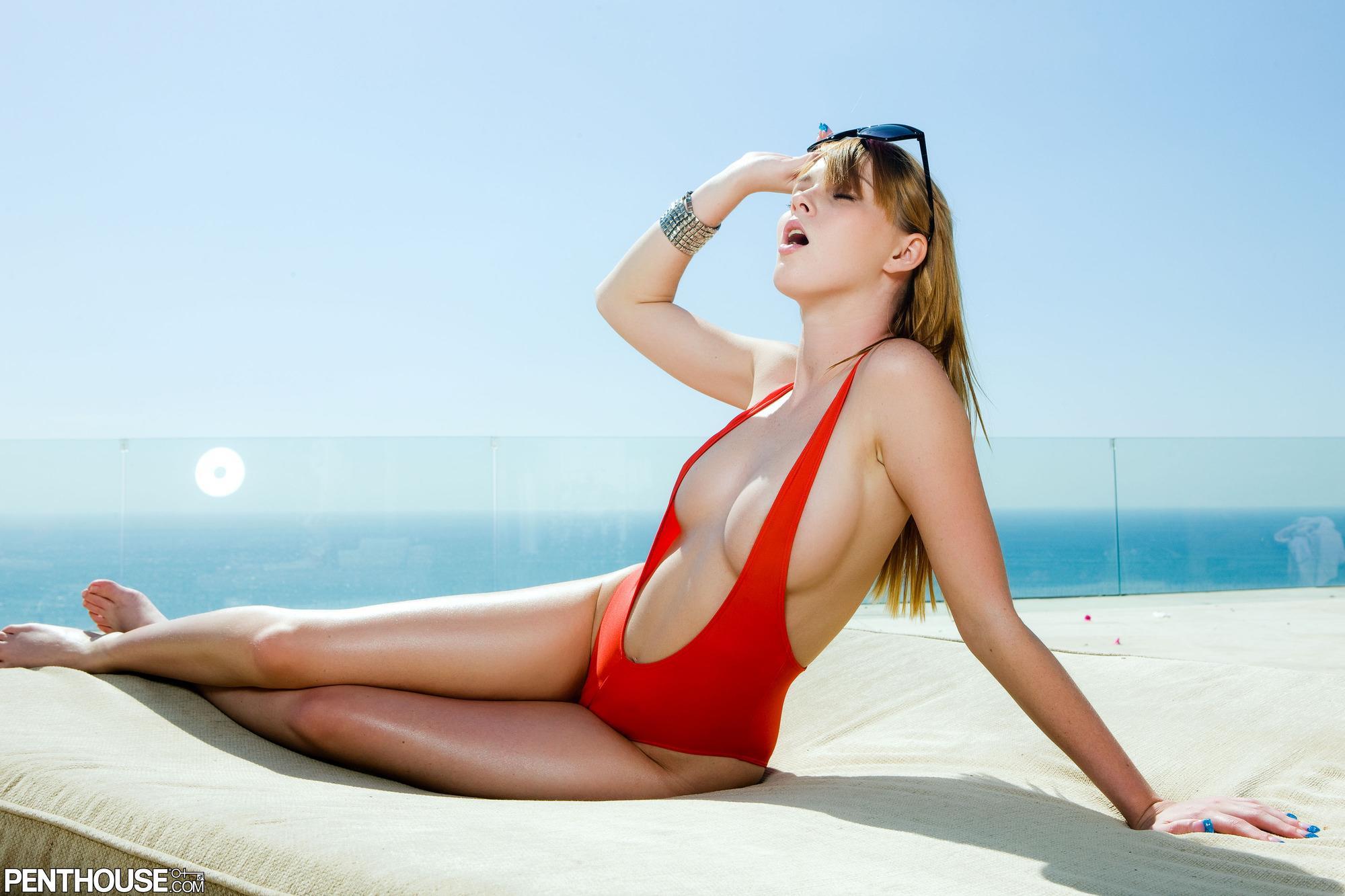 Marie McCray in a bikini