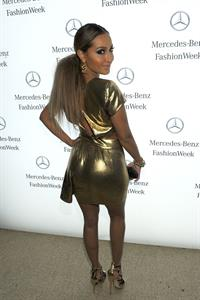 Adrienne Bailon Mercedes Benz fashion week in New York on February 13, 2012