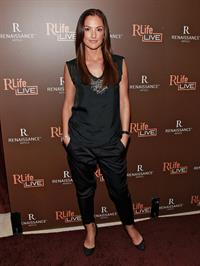 Minka Kelly RLife Live launch at R Lounge October 29, 2010