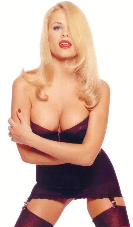 Melinda Messenger in lingerie