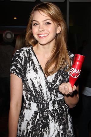 Aimee Teegarden Coca Cola 125th anniversary celebration at Kitson on Roberston on May 17, 2011