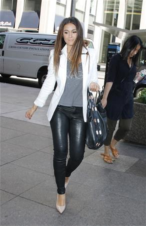 Emmanuelle Chriqui heading to SiriusXM studios in New york City August 18, 2014