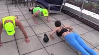 Jen Selter leads a workout