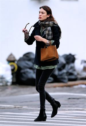 Alexa Chung Peels restaurant in the East Village in NYC, December 20, 2013