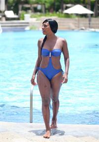Alexandra Burke - Mexican Riviera 11/7/2012