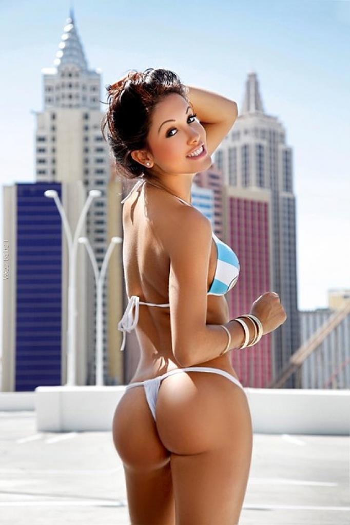 Svetlana Sholka in a bikini - ass