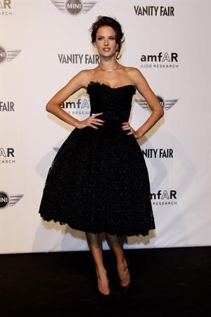 Alessandra Ambrosio Amfar Milano 2010 auction during Milan Fashion week on September 27, 2010