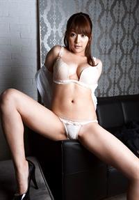 Megu Fujiura in lingerie