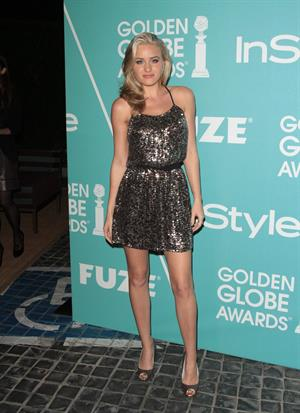 Amanda Michalka HFPA Instyle party announcing Miss Golden Globe 2011 at Cecconi's restaurant on December 9, 2010