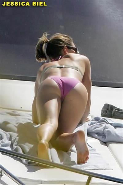 Jessica Biel in a bikini - ass