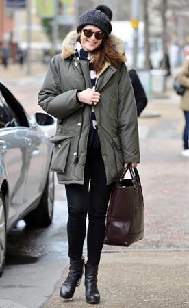 Gemma Arterton - Arrives at the ITV Studios in Waterloo, London (06.02.2013)