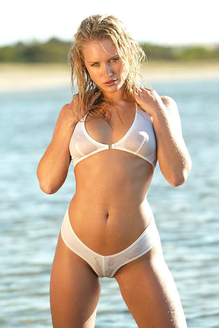 Nicky Whelan In Lingerie Breasts