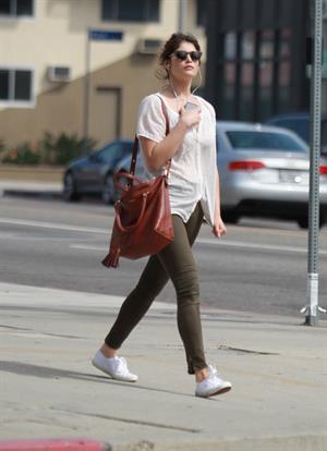 Gemma Arterton enjoys a stroll in Los Angeles on March 30, 2013