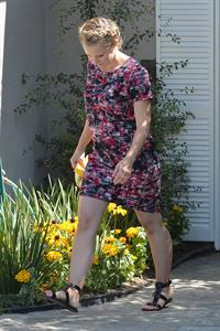 Kristen Bell leaves a private party in Brentwood August 10, 2014
