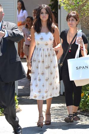 Selena Gomez leaves a private party in Brentwood on August 10, 2014