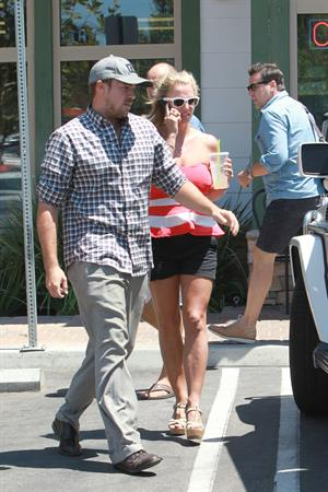 Britney Spears leaving Wild Flour Bakery Cafe on August 11, 2014
