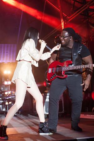 Jessie J performing at Sandown Park Racecourse in Esher, Surrey, England August 7, 2014