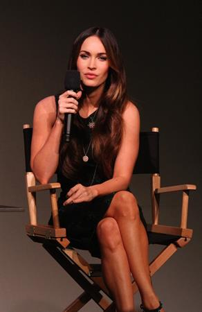 Megan Fox at interview inside the Apple Soho Store in Manhattan August 05, 2014