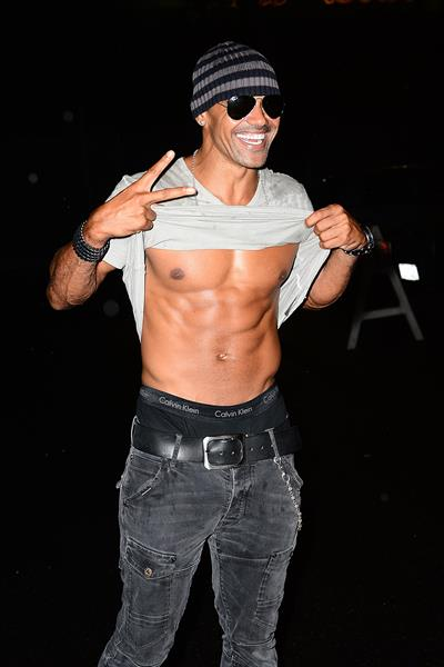 Shemar Moore shows off his six pack at The Beyonce Concert August 2, 2014