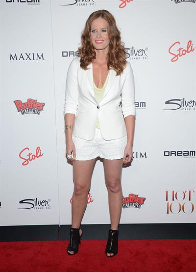 Rebecca Mader at Maxim's Hot 100 party in New York City, May 24, 2012