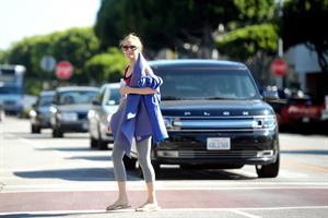 Heather Graham at yoga class in LA 7/31/13