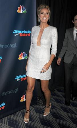 Heidi Klum attending the  America's Got Talent  Post Show in New York on August 21, 2013