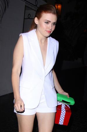 Holland Roden dressed in white in Hollywood 4/27/13