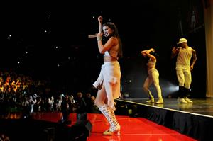 Selena Gomez on stage at the Stars Dance Tour in Milan 10/29/13
