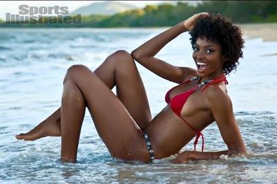 Adaora Akubilo in a bikini