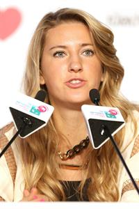 Victoria Azarenka before the Start of the WTA Championships October 21, 2013