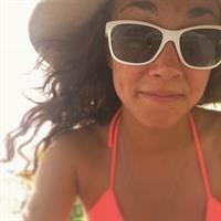 Sarah Hendrickson in a bikini