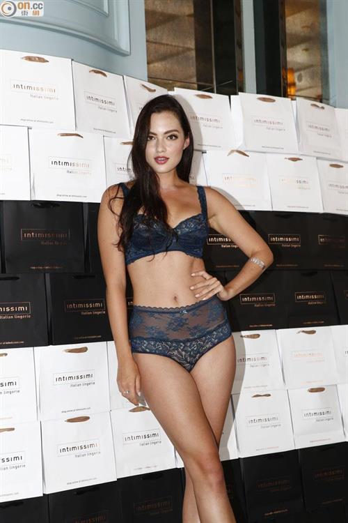 Mia Kang in lingerie