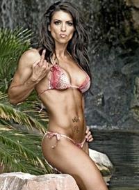 Amanda Latona Kuclo in a bikini