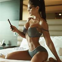 Michelle Lewin in lingerie