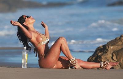 Jessica Cribbon in a bikini