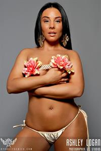 Ashley Logan in lingerie