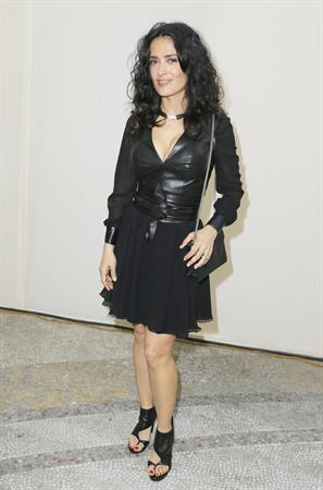 Salma Hayek - Yves Saint Laurent S/S 2014 Show 6/30/13