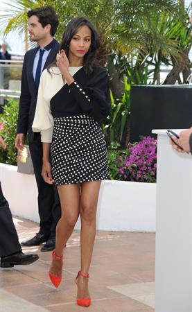 Zoe Saldana - 66th Cannes Film Festival 5/20/13
