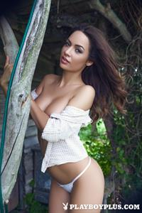 Playboy Cybergirl - Adrienn Levai at the cabin Nude Photos & Videos at Playboy Plus!