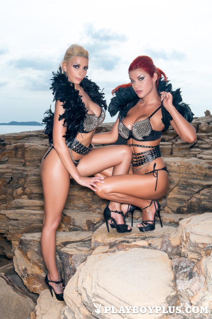 Playboy Cybergirl - Stefania  Nude Photos & Videos at Playboy Plus! (double fun on the beach)