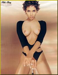 Halle Berry taking a selfie and - breasts