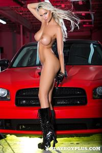 Playboy Cybergirl - Andrea  Jarova Nude Photos & Videos at Playboy Plus! (red car)